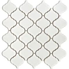 Merola Tile, Lantern 12-1/2 in. x 12-1/2 in. White Porcelain Mesh-Mounted Mosaic Tile, FKOLB10 at The Home Depot - Mobile