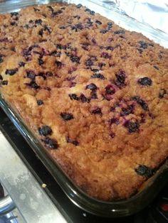 Blueberry sour cream coffee cake :)
