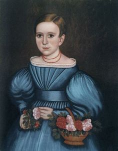 Artist: J. Bradley, Girl with Flower Basket 1835