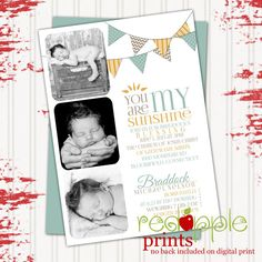 LDS Birth and Blessing Announcement digital by redapplePRINTS, $10.00