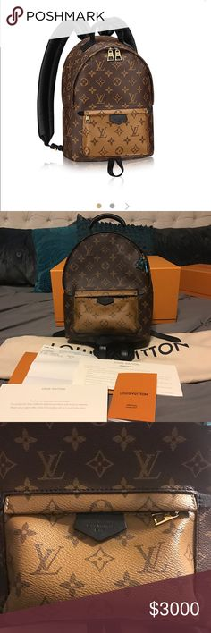 Louis Vuitton Palm Springs Backpack PM Authentic, New, Reverse monogram, sold out online, hence price. Purchased it for my trip at the end of this month but after receiving I realized I need the MM size. Louis Vuitton Bags Backpacks