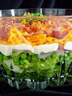 Seven Layer salad   Love this!!!