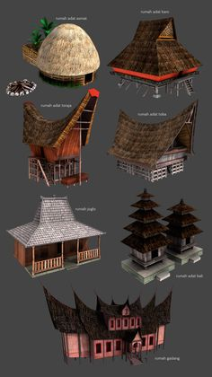 """Rumah Adat or """"traditional houses"""" of Indonesia By Kauwan On Deviantart"""