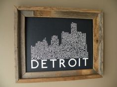 Detroit Skyline Word Art Print
