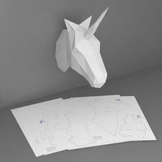 Unicorn 3D papercraft model. Downloadable DIY by NokaPaperArt