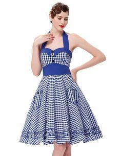 Women's Clothing Trustful Swing Dress High Waist Retro Skirt Vintage Scoop Neck Sleeveless Belt-fitted