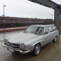 "The unique Mercedes-Benz ""190 SLT"" at #SchuppenEins It's a S123(W123) with 190SL parts. #MercedesBenz #customcar #W123 #s123 #190slt #stationwagon #wagonlove #wagonlife #wagonlovers #wagonestate..."