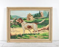 Vintage Paint by Number Dog Painting on Etsy, $28.00