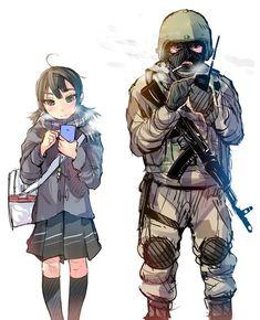 The opposition FSB officer and the typical modern schoolgirl / Противопоставление Сотрудника фсб и типичной современной школьницы