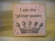 Glitter Queen - Handmade Canvas Art...cute gifts :)