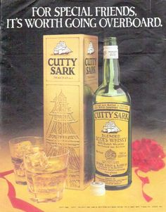 "Description: 1979 CUTTY SARK WHISKY vintage magazine advertisement ""For Special Friends"" -- For Special Friends, it's worth going overboard. Cutty Sark Blended Scots Whisky -- Size: The dimensions of the full-page advertisement are approximately 10.25 inches x 13 inches (26 cm x 33 cm). Condition: This original vintage full-page advertisement is in Excellent Condition unless otherwise noted."