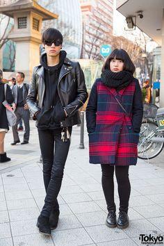 Christian Dada & Saint Laurent vs. Plaid Coat & Dr. Martens in Harajuku (Tokyo Fashion, 2015)