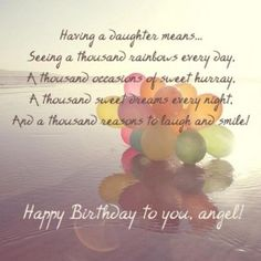 For my beautiful daughter daisy happy birthday wish card birthday quotes for daughter from mom and dad 272x273 m4hsunfo