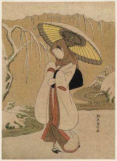 鷺娘(風俗四季の華 冬 むつの華) The Heron Maiden (Sagi musume)