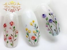 Heat Up Your Life with Some Stunning Summer Nail Art Nail Art Blog, Toe Nail Art, Nail Art Hacks, Flower Nail Designs, Flower Nail Art, Nail Art Designs, Nail Swag, Nail Art Orange, Water Color Nails