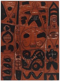 Untitled  Artist: Adolph Gottlieb.  Completion Date: 1947.  Style: Abstract Expressionism, Surrealism.  Genre: figurative painting.
