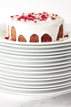 Raspberry & Almond Breakfast Cake