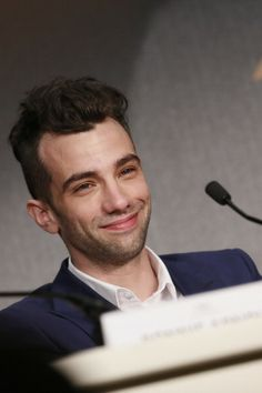 Jay at the How To Train Your Dragon 2 press conference @ Annual Cannes Film Festival - in Cannes, France. Jay Baruchel, Cannes France, Dragon 2, How To Train Your Dragon, Cannes Film Festival, Celebrity Crush, Smiley, Conference, Crushes