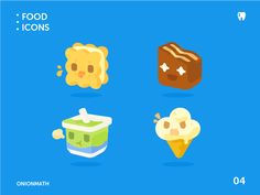 OnionMath topic icons - food series designed by fantasia for OnionMath. Design Ios, Game Ui Design, Flat Design Icons, Icon Design, Game Icon, I Icon, Motion Design, Design Thinking, Isometric Design
