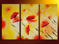 acrylic poppy painting - Google Search