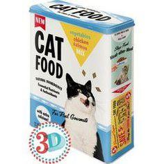 Nostalgic Μεταλλικό κουτί γίγας 3D Cat Food