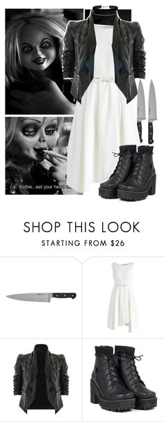 """""""Bride Of Chucky."""" by idk-abbie ❤ liked on Polyvore featuring Humör, Chicwish, UNIF, Miss Selfridge, bride and BrideofChucky"""