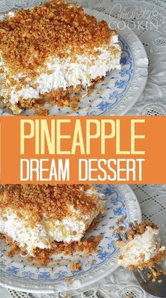 My grandma's Pineapple Dream!- My grandma's Pineapple Dream! Oh my gosh, this is the BEST! My grandma always made this and now my mom does. Guess I& have to start making it too because it just rocks! It& called Pineapple Dream Dessert. 13 Desserts, Potluck Desserts, Delicious Desserts, Yummy Food, Easy Summer Desserts, Food Cakes, Dessert Bars, Dessert Food, Dessert Simple