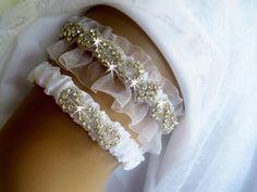 Wedding Garter Crystal Garter Toss Garter  by nanarosedesigns, $70.00