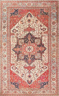 Antique Oversize Persian Serapi Heriz Carpet : Lot 106