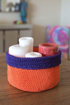 Crochet Basket, Storage Basket, Big Crochet Basket