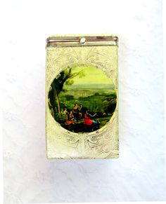 Ladies Cigarette Case Made In Italy Old by SunburyVintageStore