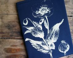 Poppy Flower Screenprint Cotton Fabric Journal Cover with Notebook. $16.00, via Etsy.