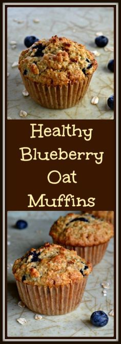 Every flavorful bite is bursting with blueberries in this recipe for healthy blueberry oat muffins. Absolute goodness in every morsel.