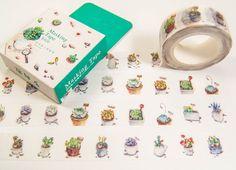 Masking Washi Tape - Cactuses / Filofaxing DIY Scrapbooking Decorative Adhesive Tape