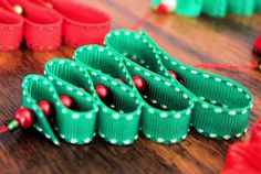 Ribbon Christmas tree ornaments