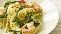 Giada+De+Laurentiis+-+Linguine+with+Shrimp+and+Lemon+Oil