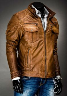 2015 Fashion Collections Leather Jackets For Men Vintage Leather Jacket