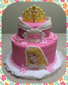 Disney Princess Aurora Sleeping Beauty Cake