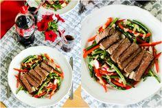Stek z sałatką z grillowanej zielonej fasolki ⋆ M&M COOKING Steak, Grilling, Cooking, Food, Kitchen, Crickets, Essen, Steaks, Meals