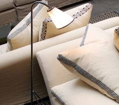 Linen and coton sofa in natural colors