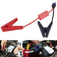 High Quality Clips for Car Emergency Jump Starter / Auto Car Engine Booster Storage Battery Clamp Accessories Connected In Stock #Affiliate