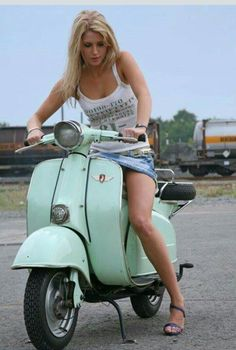 I like brunettes, but she IS sitting on a Vespa... Meet rich men and enjoy millionaire life. Get start @ http://richmendating.net http://millionaireloveapp.com/