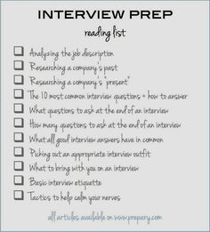 to prepare for an interview: Use this easy checklist The article you NEED to read if you have an upcoming interview (pin and save for later!)The article you NEED to read if you have an upcoming interview (pin and save for later! Interview Skills, Job Interview Tips, Job Interview Questions, Job Interviews, Preparing For An Interview, Interview Techniques, Job Interview Preparation, Interview Answers, Teaching Interview