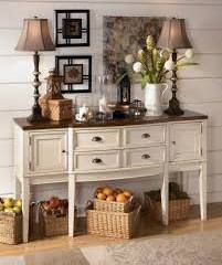 Ashley Furniture Whitesburg Dining Room Server With The Warm Two Tone Look Of Cottage White And Burnished Brown Finishes Beautifully Accenting