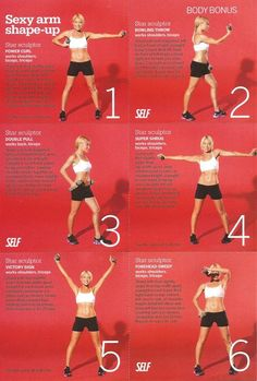Arm workout for slimming and sculpturing 🙂 More More from my site 💪 Upper Body Fat Melter: Lean and Tone Arms, Back and Chest. Arm Workout From Kelly Ripa's Trainer Tracy Anderson Workout, Tracy Anderson Diet, Tracy Anderson Method, Reto Fitness, Fitness Diet, Fitness Motivation, Health Fitness, Fitness Gear, I Work Out
