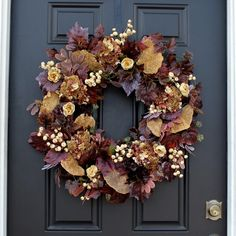Autumn Wreaths For Front Door, Fall Wreaths, Door Wreaths, Dried Flower Wreaths, Dried Flowers, Fall Diy, Fall Home Decor, Autumn Leaves, Home Crafts