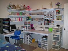 scrapbook organization ideas | Here it is - my new crafting corner.
