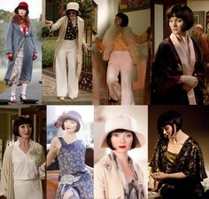 """Miss Fisher's Fabulous Frocks Outfit Recap - Season 1, Episode 2 - """"Murder on the Ballarat Train"""" Phryne is a little more restrained in this episode, with only eight total costume changes, as opposed to the 13 different ensembles in episode one..."""