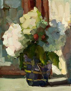 Lisa Noonis - Hydrangea in Purple Vase