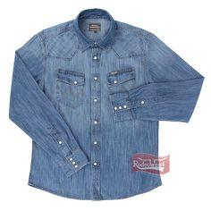 719dd77f9c Camisa Jeans Masculina Importada Manga Longa - Wrangler 696.1B.2M.50 - Rodeo  West